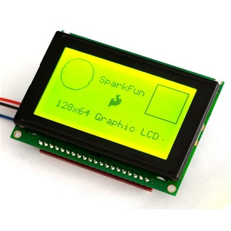 Serial Graphic LCD 128x64 with Backlight | LCD-09351
