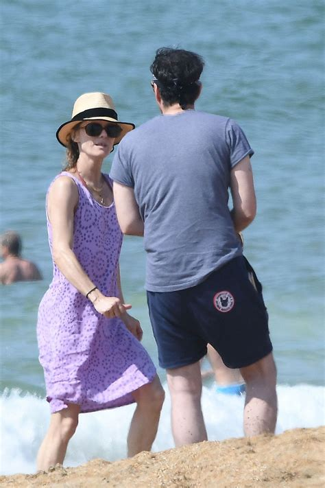Vanessa Paradis in Swimsuit at the Beach in Biarritz