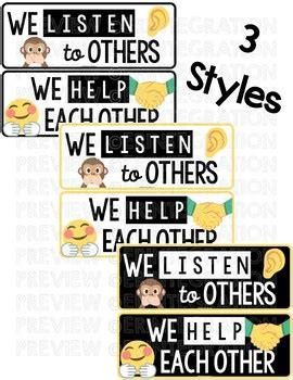 Classroom Rules Posters: Emoji Classroom Decor by