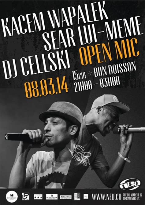 NED MUSIC CLUB | HIP-HOP NIGHT : Kacem Wapalek - Sëar Lui