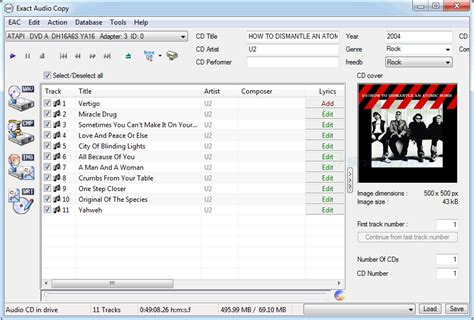 Exact Audio Copy - extract music from Audio CDs