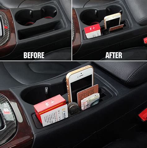 FIT FOR AUDI A4 A5 B8 S4 ARMREST CAR DRINK CUP HOLDER CARD