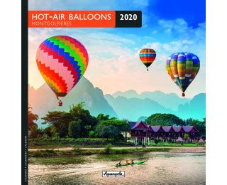 Calendrier annuel 2020 - PICTURA - 16 x 16 - Mongolfiere