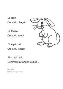 le lapin a du chagrin | Chansons comptines, Comptines