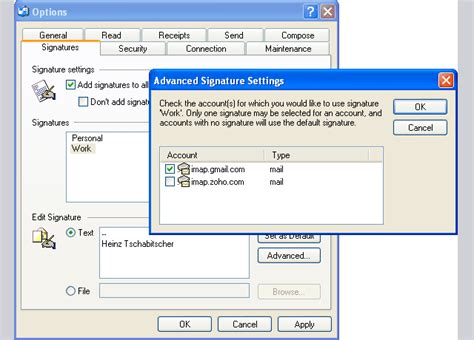 How to Set Up Per-Account Signatures in Outlook Express