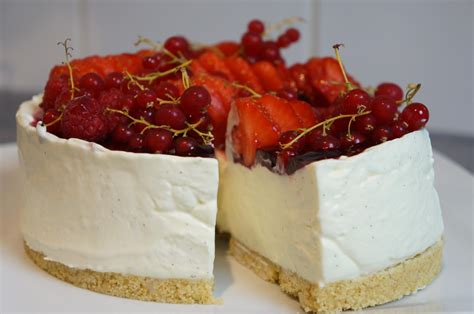 Cheesecake sans cuisson Vanille & fruits rouges