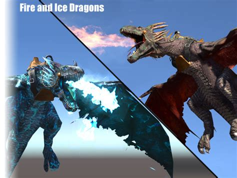 Fire and Ice Dragons - Asset Store