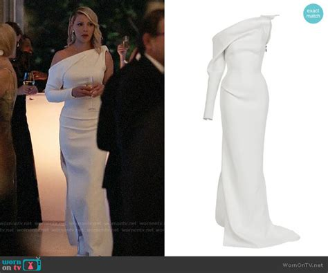 WornOnTV: Samantha's white one-sleeve gown on Suits