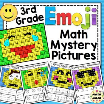 Emoji Math Mystery Pictures: 3rd Grade Math Skills by Math