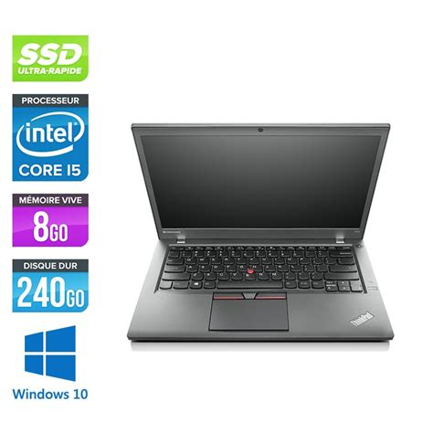 Pc portable reconditionné Lenovo Thinkpad T450s - i5 - 8Go