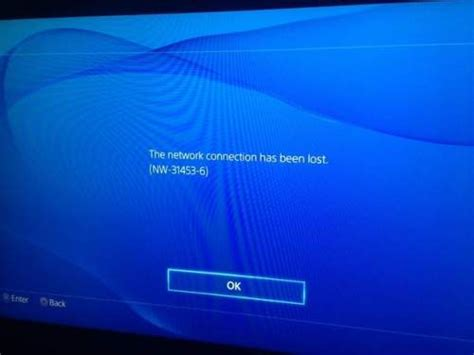 PS4 Error Code NW-31453-6 Reported While Connecting to PSN