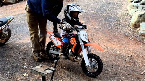 ktm 50 SX Mini For Christmas!?! 2 years old riding the KTM