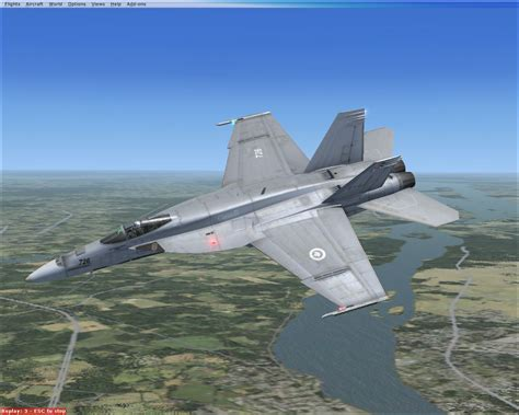 RCAF F/A-18E SuperBug CAF-425 Squadron for FSX