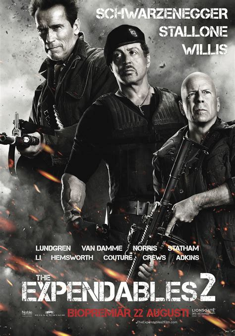 THE EXPENDABLES 2 (2012) TV Spot 1, Movie Poster: Bruce