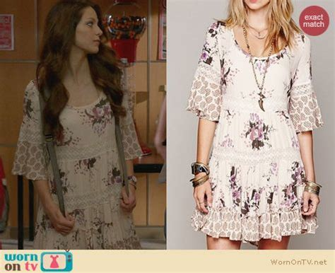 WornOnTV: Marley's white and purple floral lace dress on