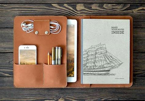 The Handmade iPad Pro Leather Case Holds Your 9
