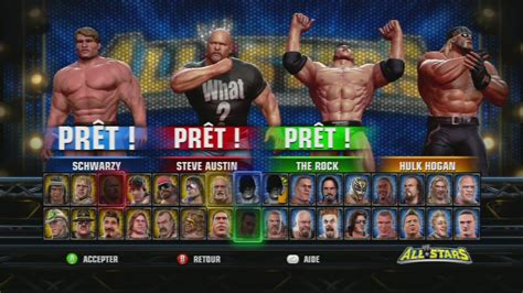 WWE ALL STARS !!! HD HOLLYWOOD 4 WAY MATCH Gameplay By