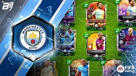 FULL MAN CITY SPECIAL CARD SQUAD!   FIFA MOBILE - YouTube
