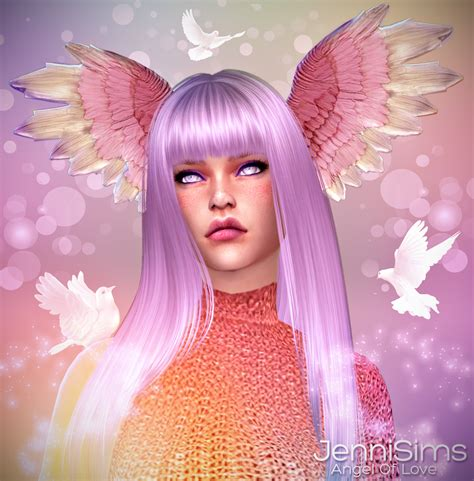 Jennisims: Downloads sims 4: Accessory Angel Of Love (Wing