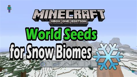 Awesome Minecraft Xbox One Snow Biome Seeds - YouTube