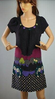 Masta Knitted Used Women Dress Tunic Multicolored Size-S/M