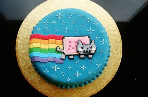 Foodista | The Nyan Cat Cake is a Cyber Sweet