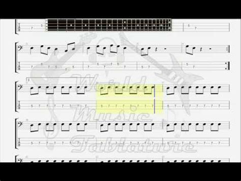 Deep Purple Black Night BASS GUITAR TAB - YouTube