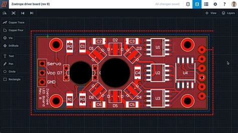 PCB Design - How to create a Copper Pour in 123D Circuits