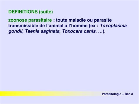 PPT - Parasitologie PowerPoint Presentation, free download