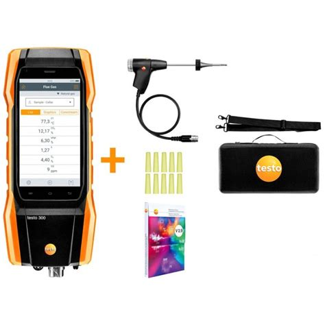Testo 300 Initial lot - analyseur de combustion (O2, CO