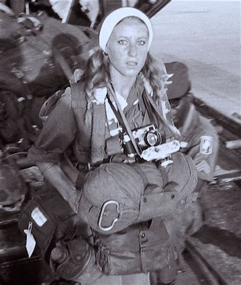 22 year old photojournalist Catherine Leroy, participating