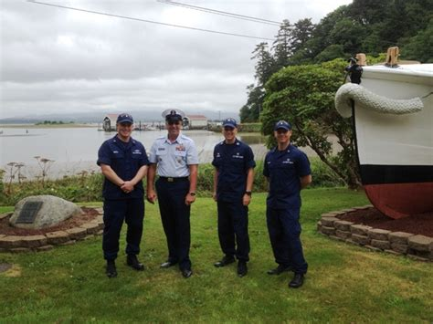 Station Cape Disappointment hosts Coast Guard senior leade