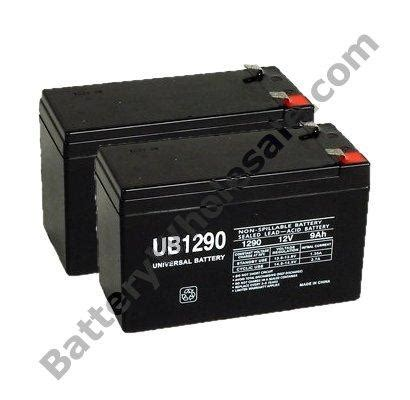 APC BACK UPS 1500XS - Pack is for one ups, (2) 12V 9AH F2