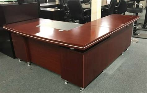 Cherry Wood L-Shape Desk Available at Arnold's Office