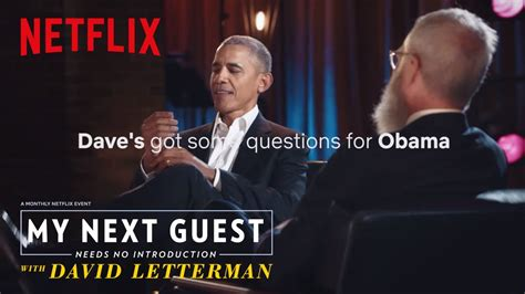 David Letterman Has Questions For President Obama | My