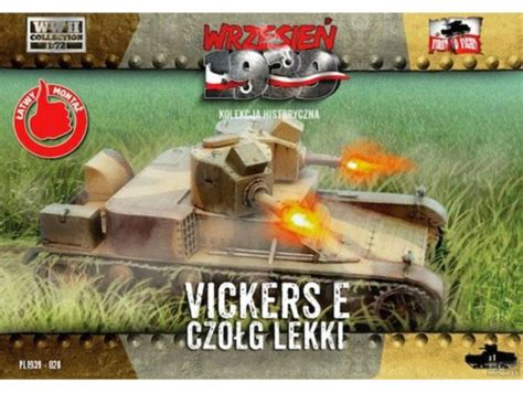 First to Fight maquette militaire pl028 CHAR LEGER VICKERS