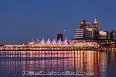 Canada Place at twilight in Vancouver